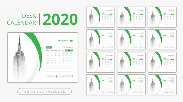 Desk calendar 2020