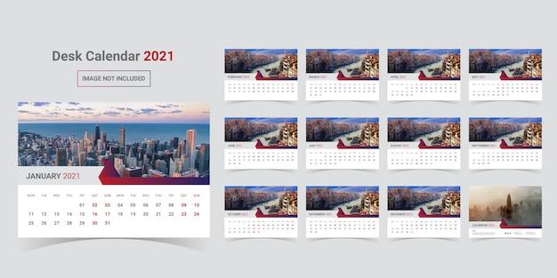 Desk calendar 2021 template