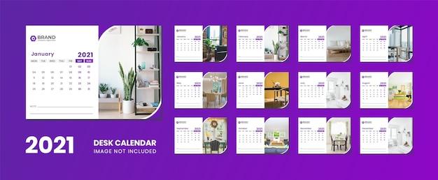 Desk calendar 2021