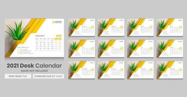 Desk calendar for 2021