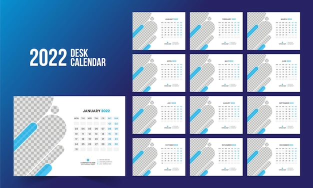 Настольный календарь 2022 шаблон
