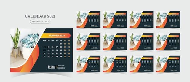 Desk calendar illustration