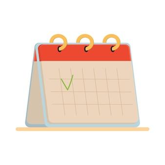 白い背景で隔離の卓上カレンダー。webバナー、インフォグラフィック、ヒーロー画像に使用できます。白い背景で隔離のフラットベクトルイラスト。