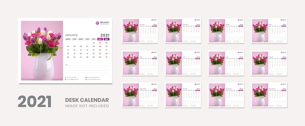 Desk calendar new year