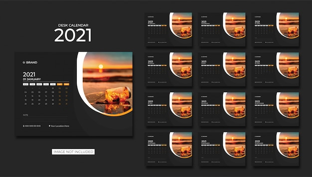 Desk calendar,table calendar 2021