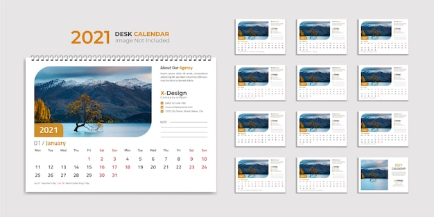 卓上カレンダーテンプレート、カレンダー