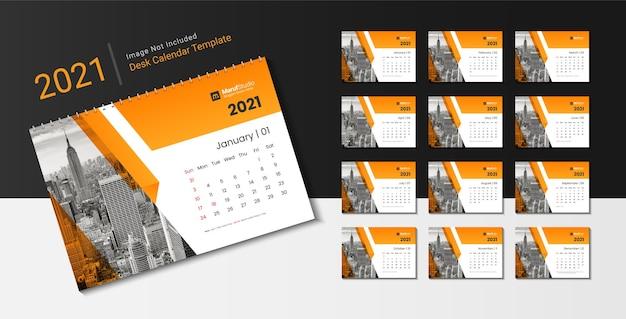 Desk calendar template design for new year