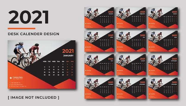Дизайн настольного календаря на 2021 год