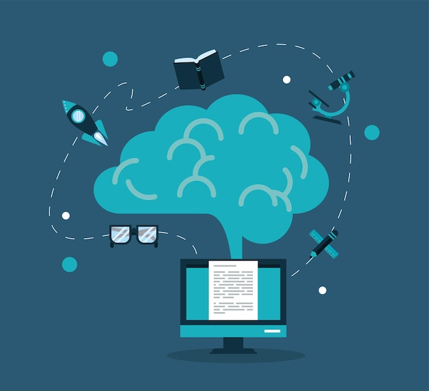 デスクトップと教育のオンラインアイコン