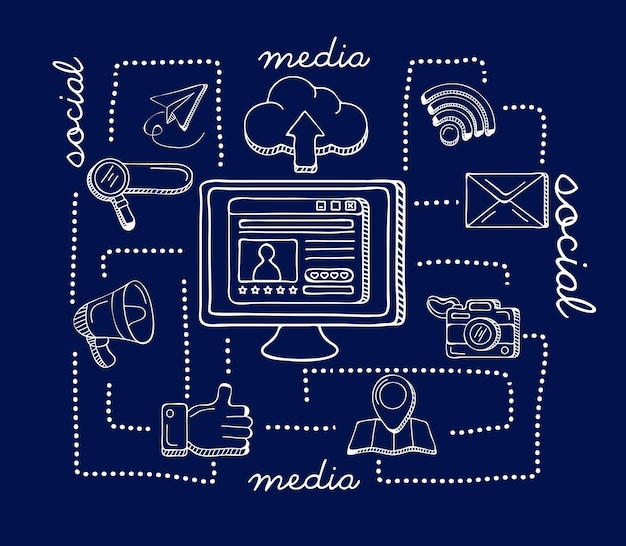 Значки рабочего стола и социальных сетей