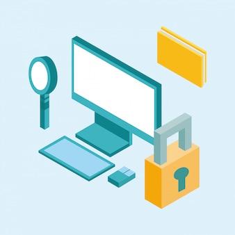 Desktop isometric icon