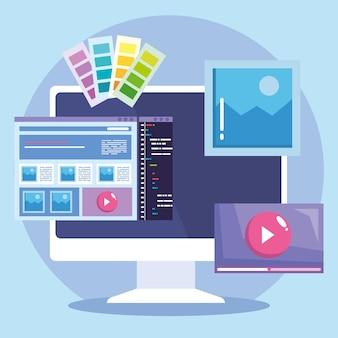 Desktop and web design