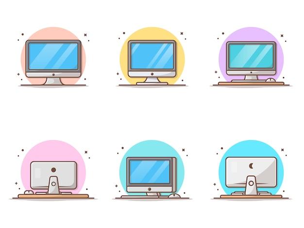 Рабочий стол с пустым экраном на столе