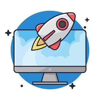 Desktop with launch the rocket