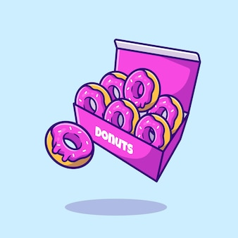 Dessert  box cartoon   icon illustration. food snack icon concept isolated    . flat cartoon style