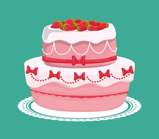 Dessert cake design.