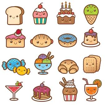 Dessert cartoon set