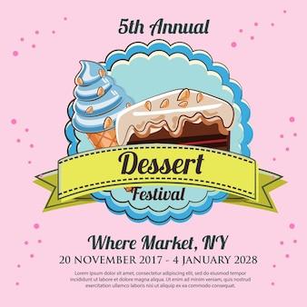 Dessert festival poster template