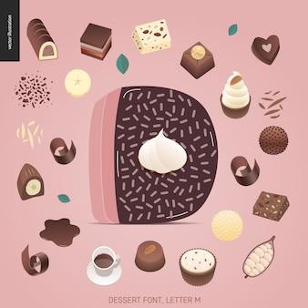 Dessert font - letter d