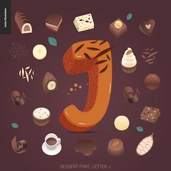 Dessert font - letter j