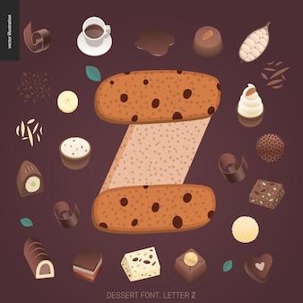 Dessert font letter z