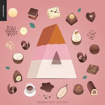 Dessert font - letter a