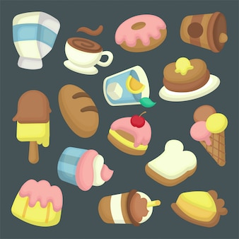 Dessert illustration collection