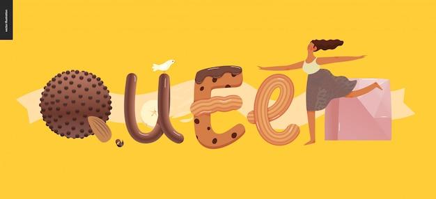 Dessert lettering queen