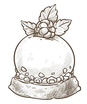 Dessert served in cafe, diner or restaurant