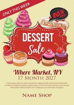 Dessert super sale poster handdrawn