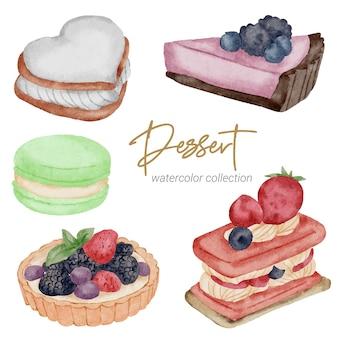 Коллекция акварельных красок десерт