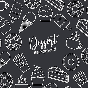 Desserts background