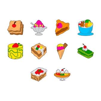 Набор иконок десерты
