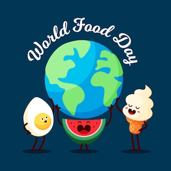 Desserts and meals world food day