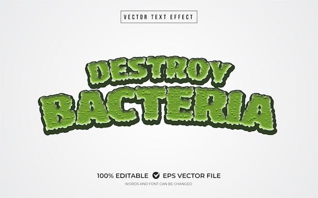 박테리아 녹색 텍스트 효과 파괴