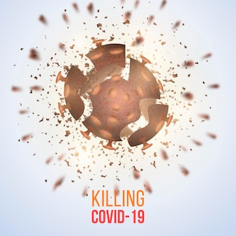 Destroying coronavirus background theme