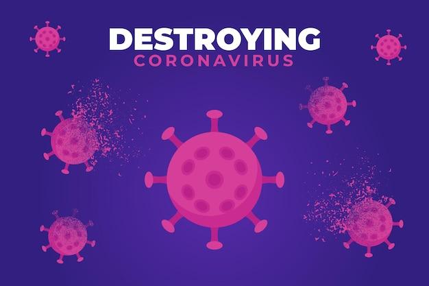 コロナウイルスの背景を破壊する