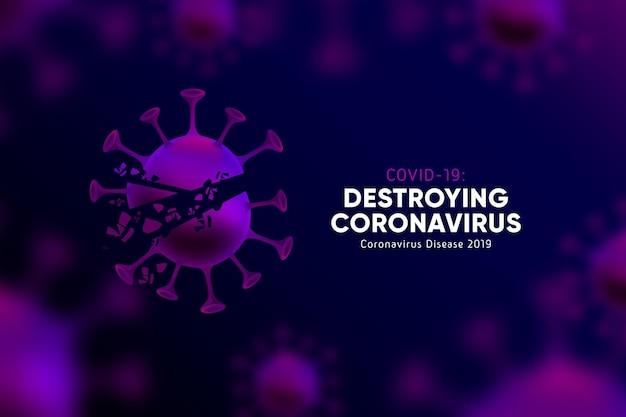 Destroying coronavirus background