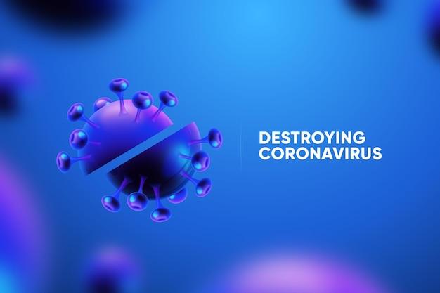 Destroying the coronavirus background