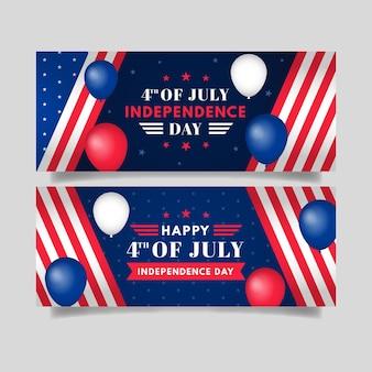 7月4日の詳細-独立記念日のバナーセット