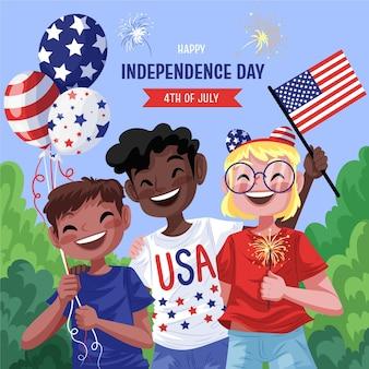 Подробная иллюстрация 4 июля - день независимости