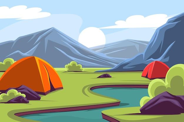 Detailed adventure background
