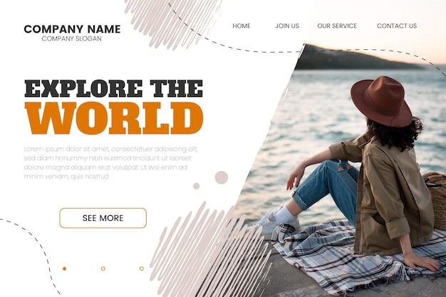 Подробный шаблон целевой страницы приключения с фото