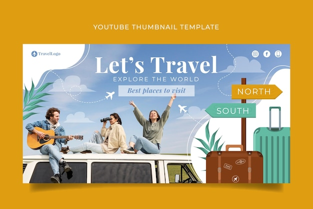 Detailed adventure youtube thumbnail template