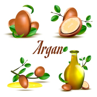 Detailed argan oil element pack