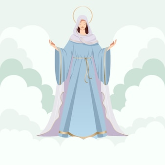 Detailed assumption of mary illustration