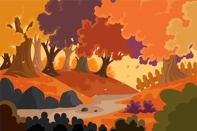 詳細な秋の背景