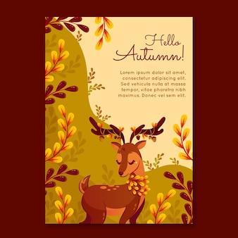 Detailed autumn flyer template