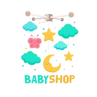 Detailed baby logo template