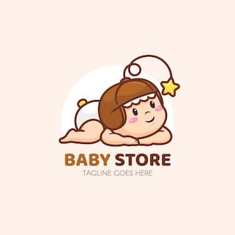 詳細な赤ちゃんのロゴのテンプレート